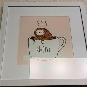 "✨NWOT At Home Wall Decor Sloth ""Sloffee"""